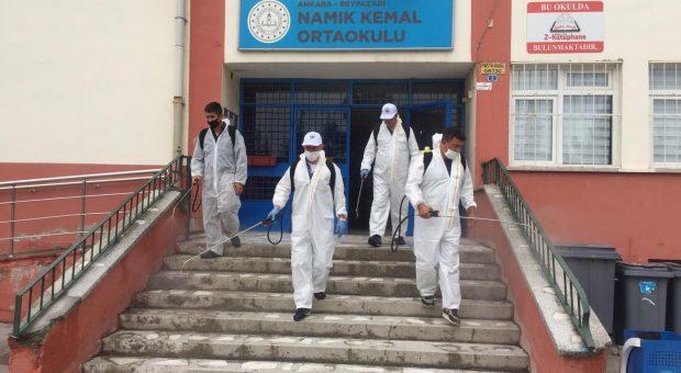 LGS Öncesi Okullarda Dezenfekte Çalışmaları Yapıldı
